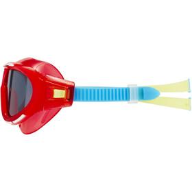 speedo Biofuse Rift Lunettes de protection Enfant, lava red/japan blue/smoke
